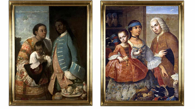 Cuadros de matrimonios mestizos en el Virreinato de Miguel Cabrera (1695-1768)