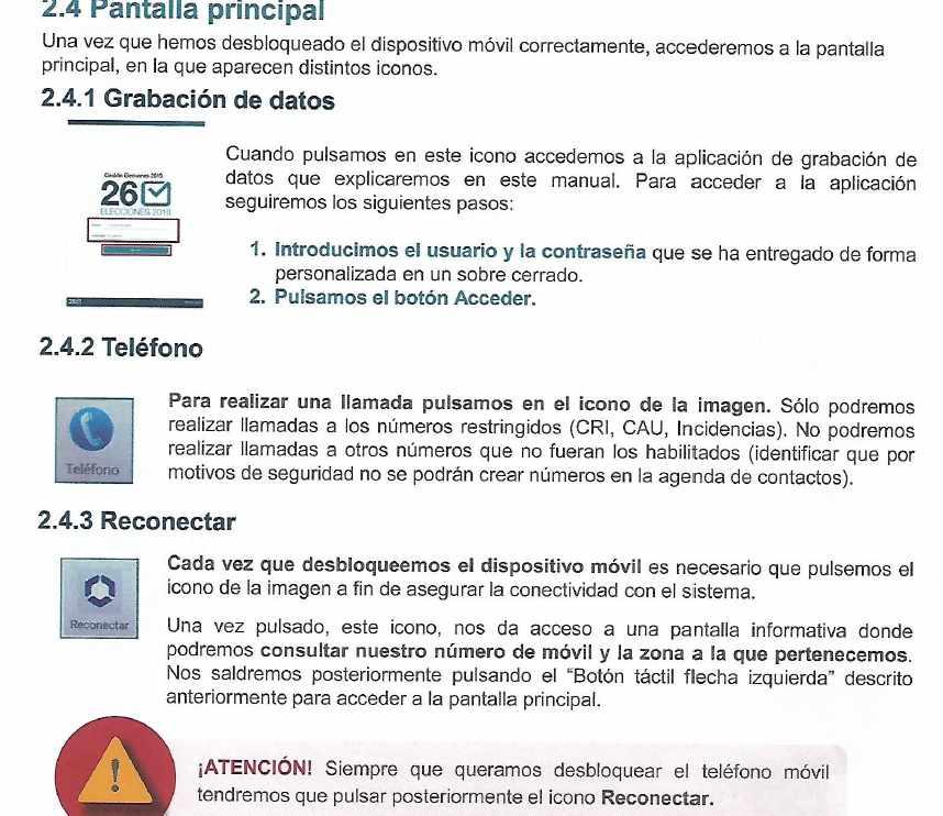Instrucciones con los pasos a seguir para introducir los datos en la aplicación el próximo 26-M.