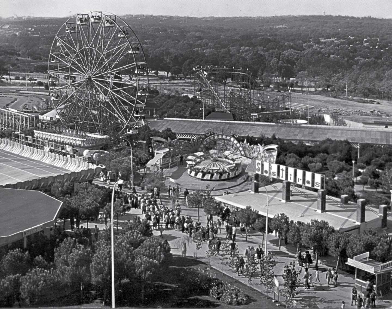 Vista panorámica del Parque de Atracciones, ubicado en la Casa de Campo.