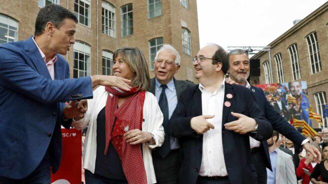 Pedro Sánchez, durante el acto celebrado este jueves en Barcelona.