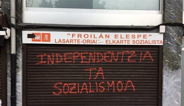 Sede del PSE en Lasarte, en un ataque anterior.
