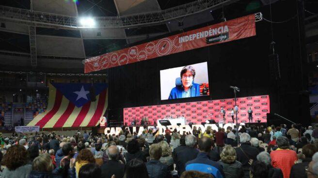 Intervención telemática de Carles Puigdemont durante la Asamblea General Ordinaria de la ANC.