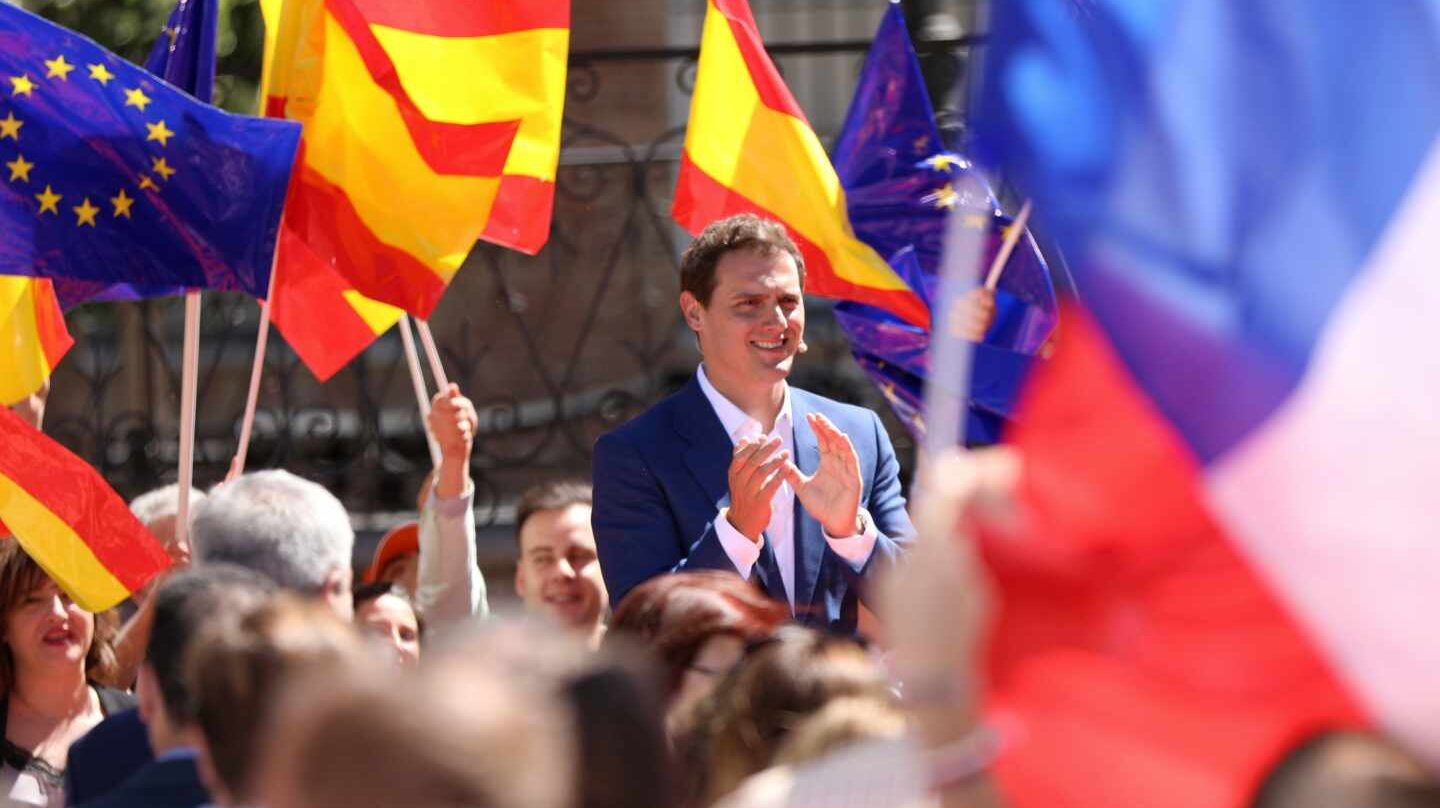 Albert Rivera, en un mitin en Madrid.