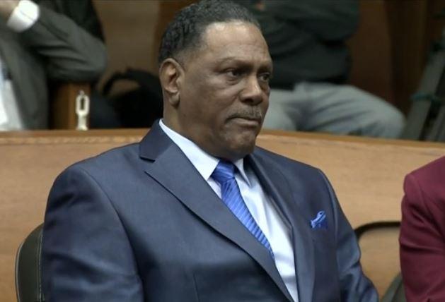 Richard Phillips, durante su exoneración.