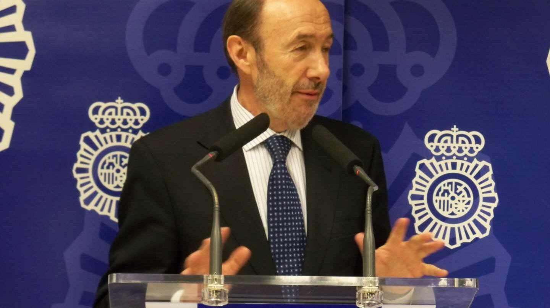 Alfredo Pérez Rubalcaba, en una comparecencia informativa durante su etapa como ministro del Interior.