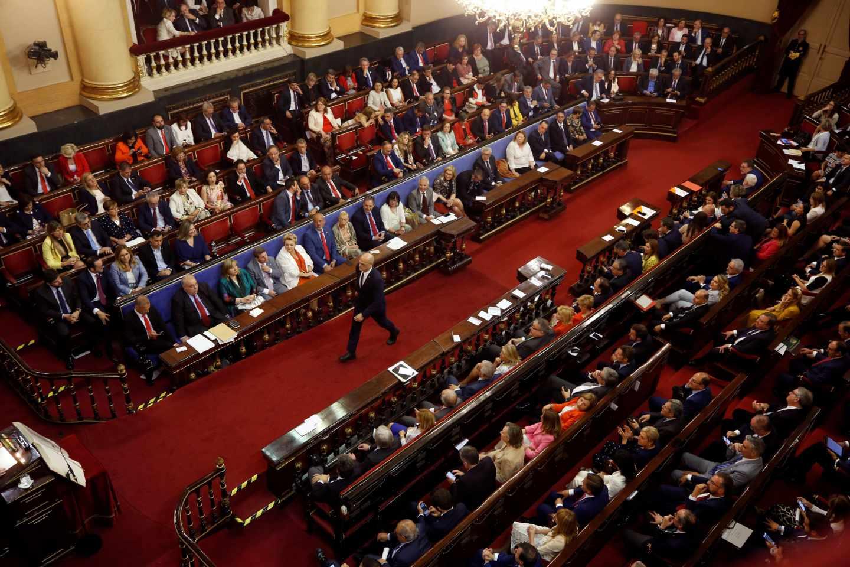 El Senado, durante la sesión constitutiva.