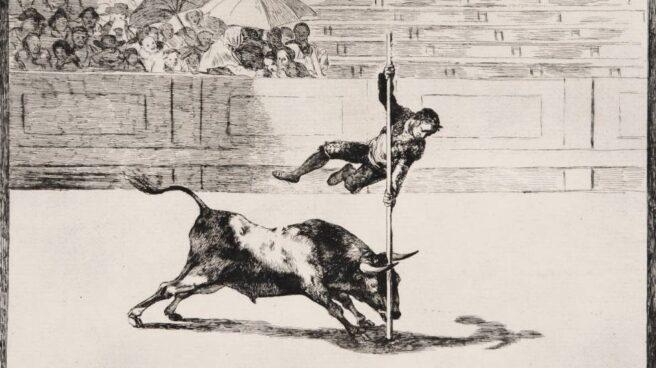 Un grabado de 'La tauromaquia', de Goya.
