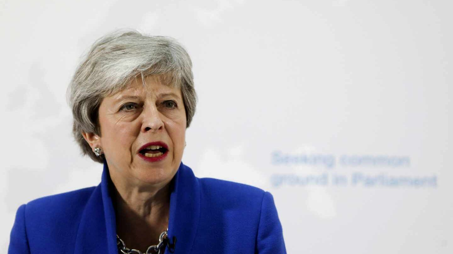 Theresa May presenta su nuevo plan, este martes en Londres.