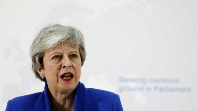 Theresa May presenta su nuevo plan, este martes en Londres.