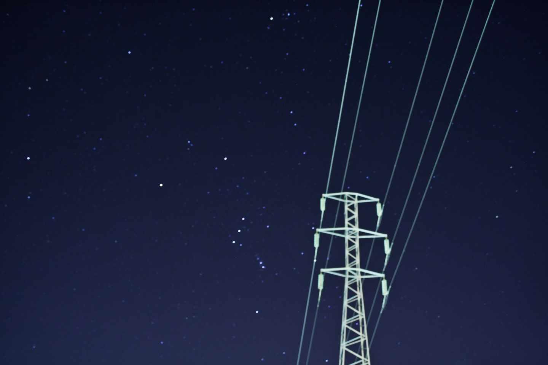Una torre de la red eléctrica.