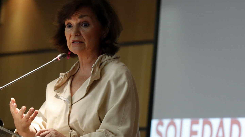 La vicepresidenta del Gobierno en funciones, Carmen Calvo