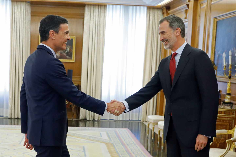 Pedro Sánchez y el Rey, en La Zarzuela.