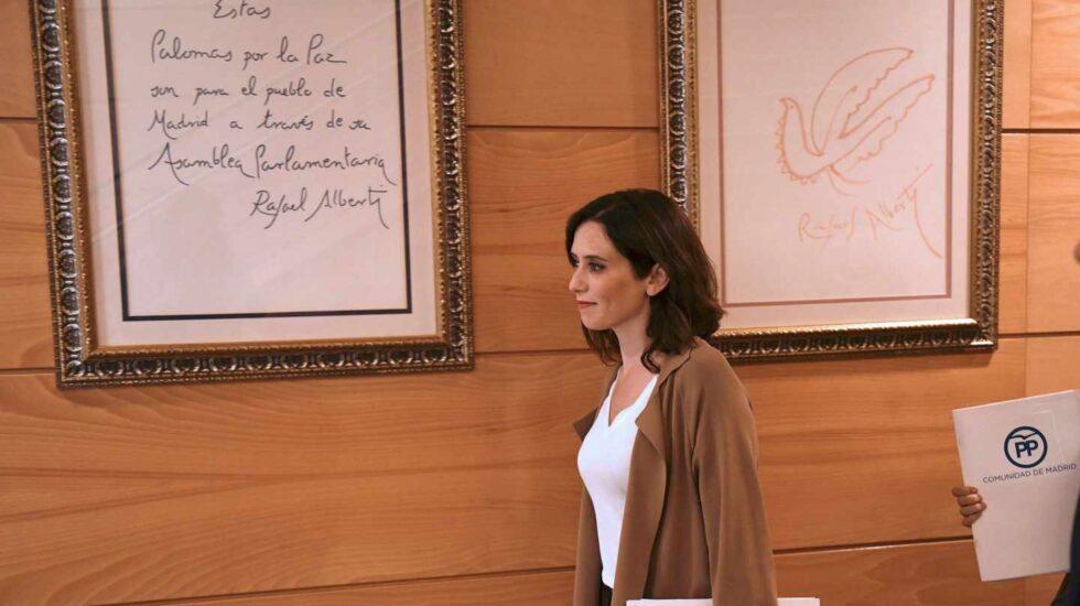 La candidata a la presidencia de la Comunidad de Madrid, Isabel Díaz Ayuso