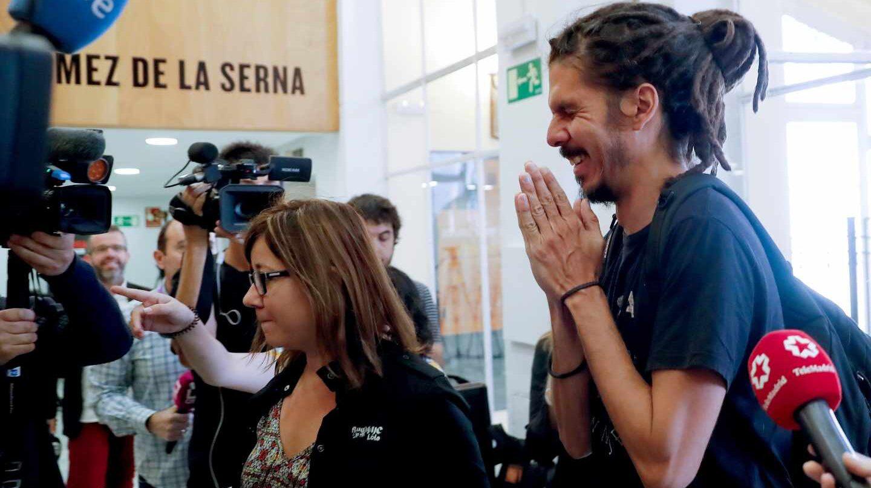 Alberto Rodríguez, secretarío de organización de Podemos, a su llegada al Consejo Ciudadano.