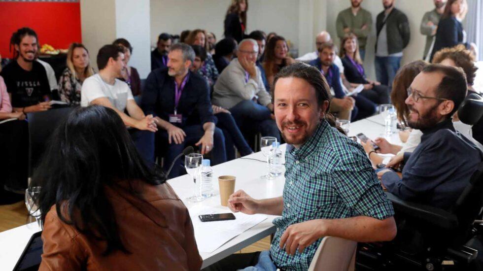 Pablo Iglesias, en el Consejo Ciudadano de Podemos.