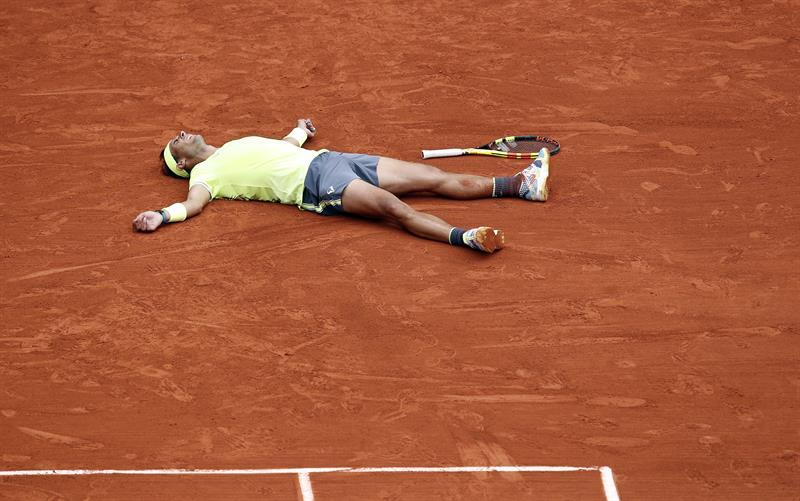 Rafael Nadal celebra su nuevo título en París