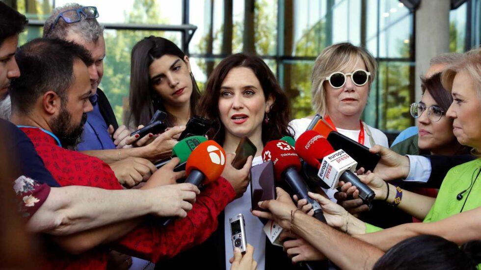 Díaz Ayuso ayer en la Asamblea de Madrid