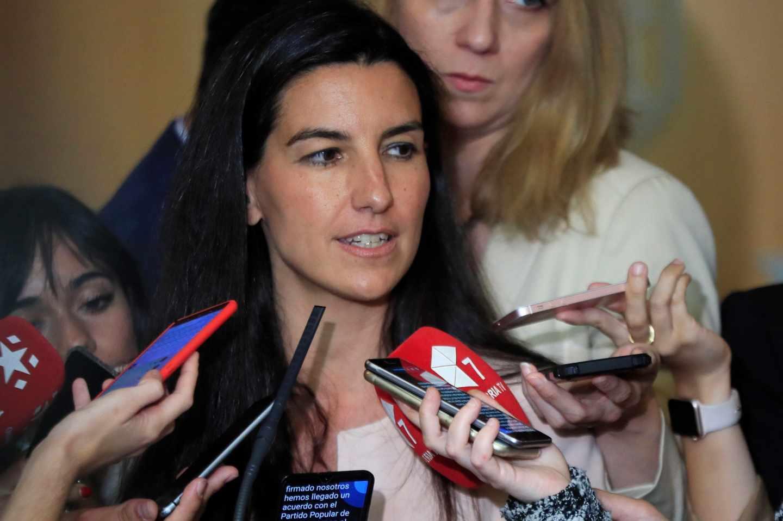 Rocío Monasterio, en la Asamblea de Madrid.