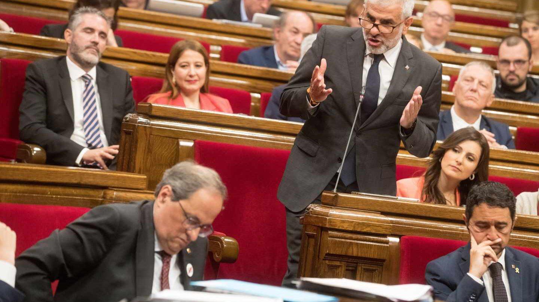 El presidente del grupo parlamentario de Ciudadanos, Carlos Carrizosa.