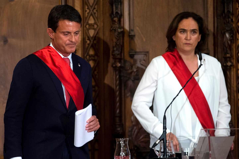 Manuel Valls y Ada Colau.