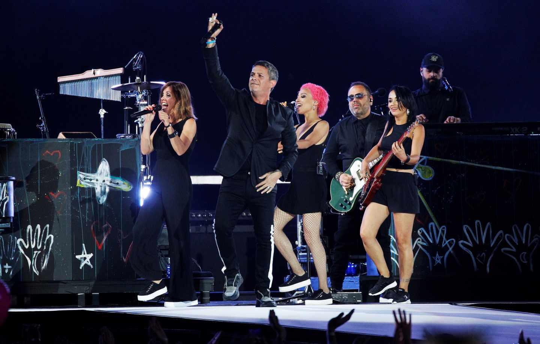 Alejandro Sanz, en su concierto en el Wanda.