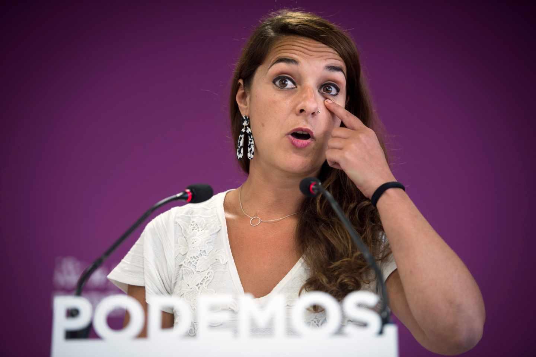 La portavoz de Podemos, Noelia Vera.