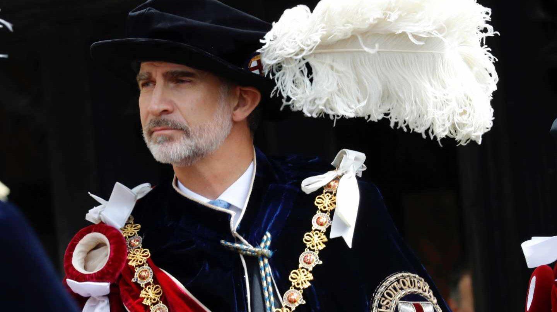 El rey Felipe en Windsor, nuevo caballero de la Orden de la Jarretera.