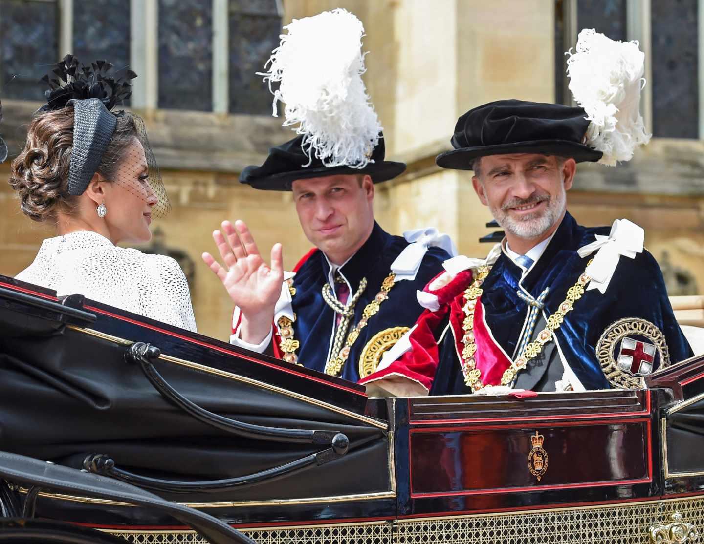 Los reyes Felipe VI y Letizia junto al príncipe Guillermo de Inglaterra.