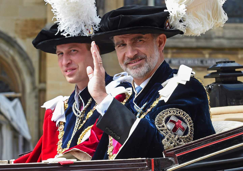 El rey Felipe VI, junto al príncipe Guillermo de Inglaterra.