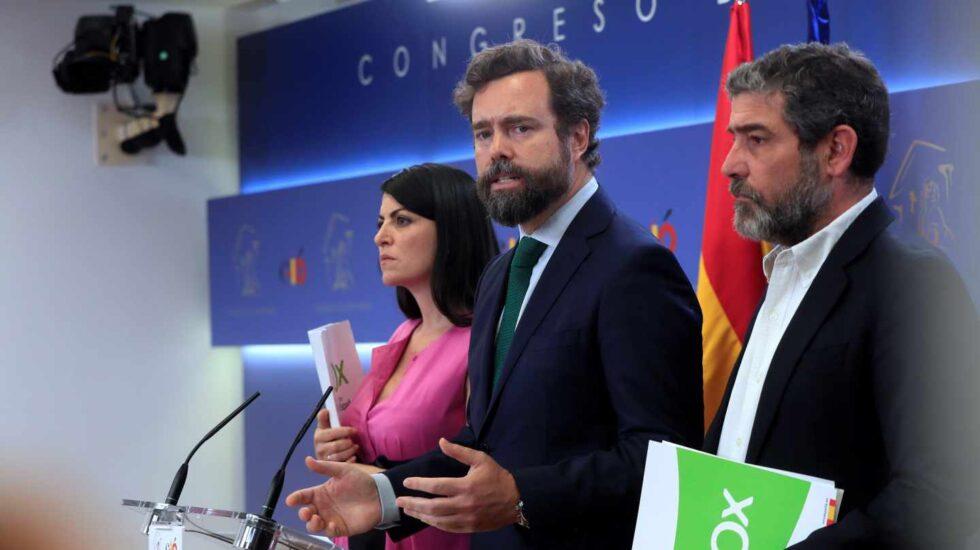 Iván Espinosa de los Monteros durante su comparecencia de hoy en el Congreso