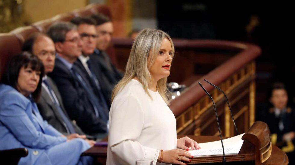 Mar Blanco durante su intervención en el acto institucional
