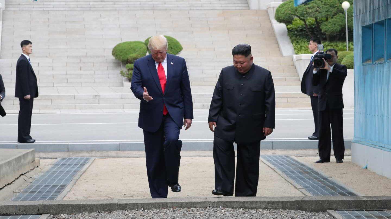 Donald Trump y Kim Jong-un durante su encuentro en Corea del Norte.