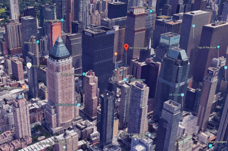 El edificio en el que se ha producido el incidente se encuentra en la Séptima Avenida, a la altura de la calle 51.