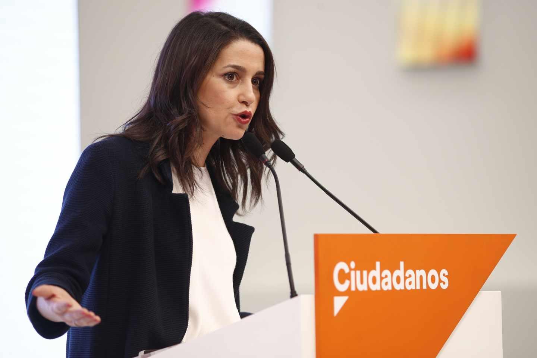 Inés Arrimadas, tras la Ejecutiva de Ciudadanos.