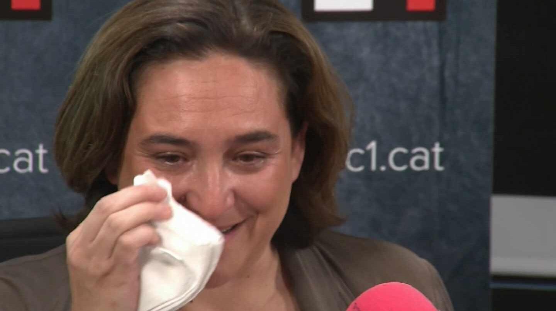 Ada Colau durante la entrevista en RAC1