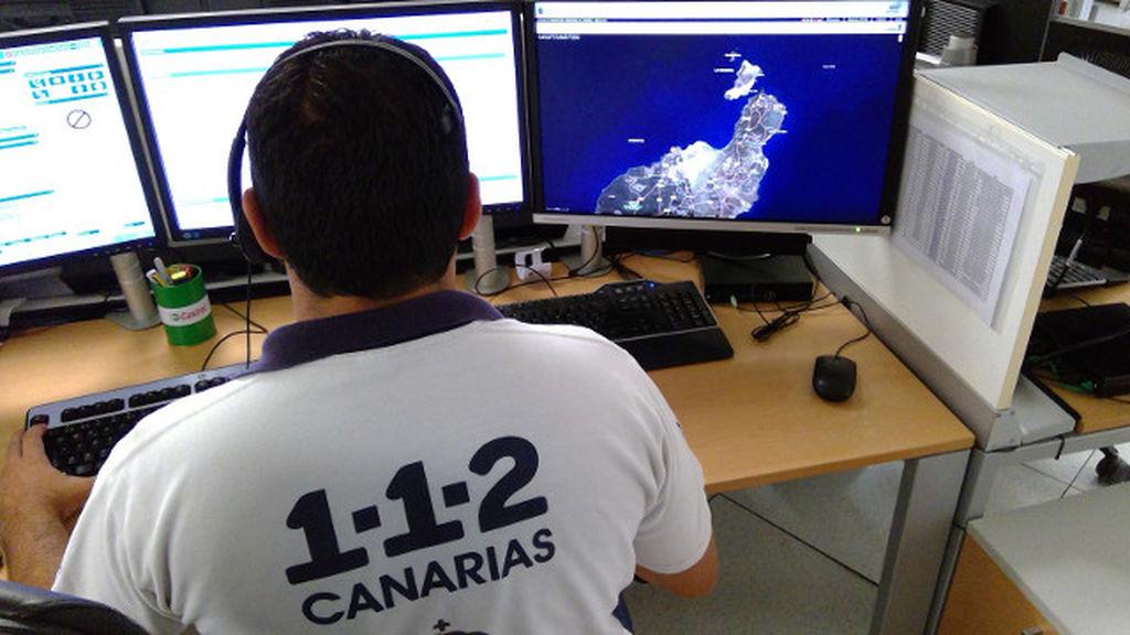 Servicio del 112 en Canarias.