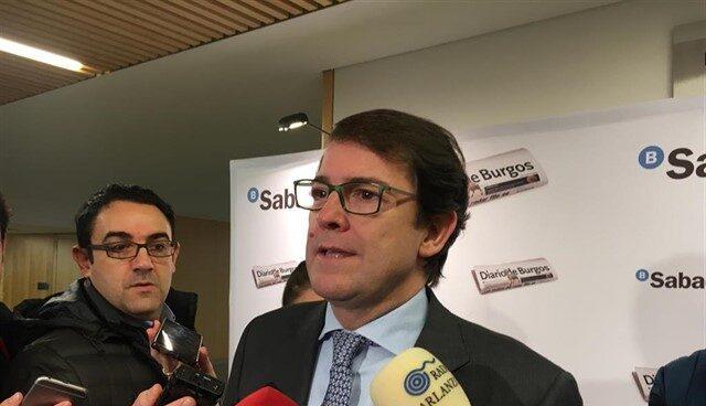 El candidato del PP a la Junta de Castilla y León, Alfonso Fernández Mañueco
