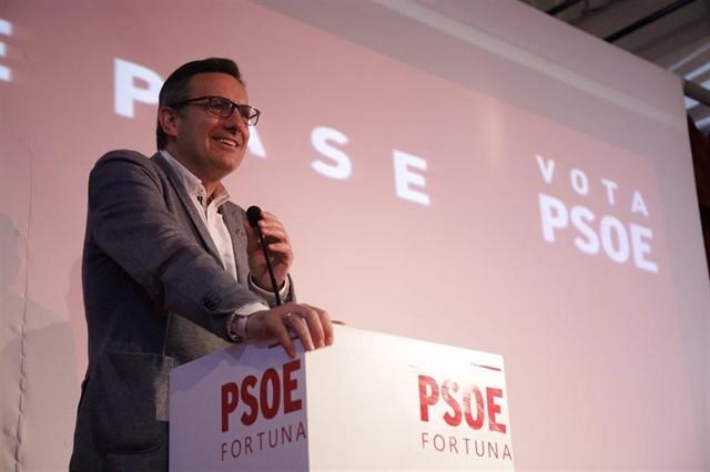 El candidato socialista a la presidencia de la Región de Murcia, Diego Conesa