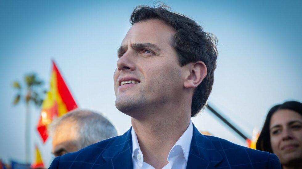 El líder de Ciudadanos, Albert Rivera, durante un acto de campaña