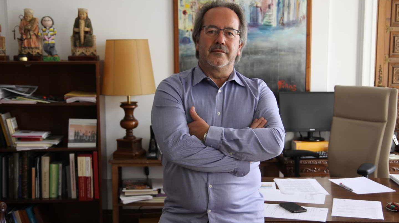 El alcalde zamorano Francisco Guarido en su despacho.