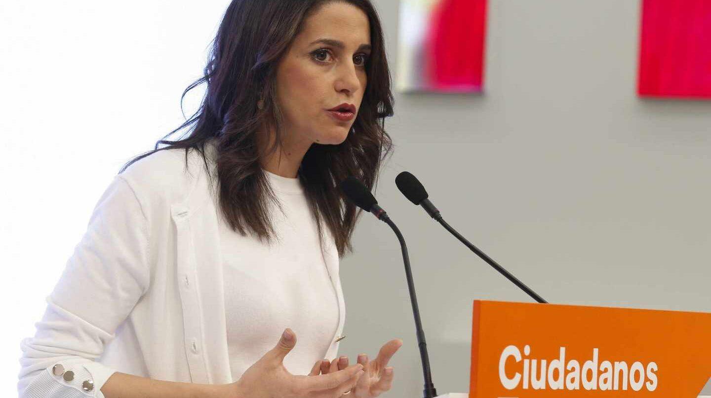 Inés Arrimadas, durante una intervención en la sede de Ciudadanos.