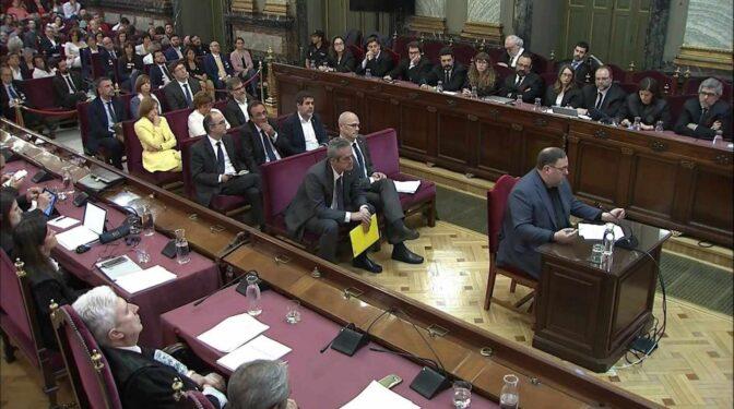 El Constitucional avala la condena por sedición a los miembros del 'procés'