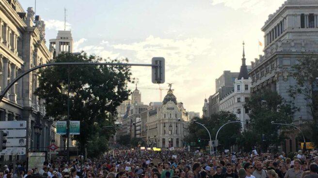 Manifestación a favor de Madrid Central.