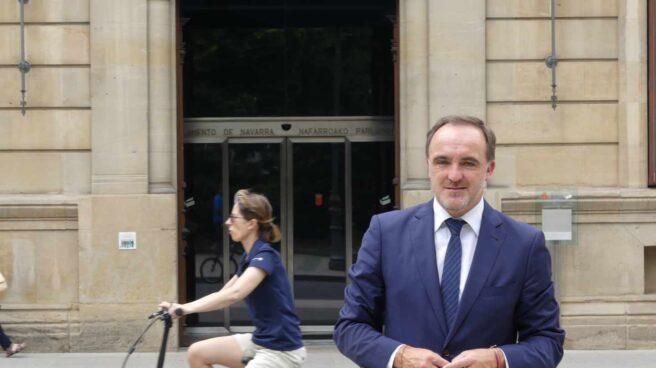 Esparza ante el Parlamento de Navarra.