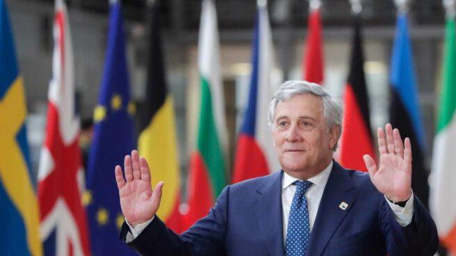Antonio Tajani, en el Parlamento Europeo.