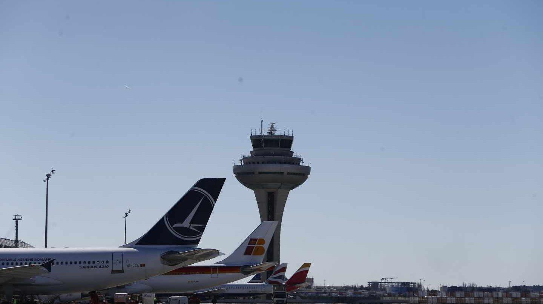 La torre de control del aeropuerto de Madrid-Barajas.