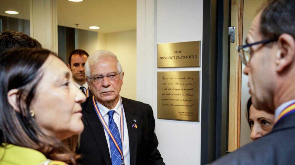 Josep Borrell, este miércoles en Bruselas en la sede de la OTAN.