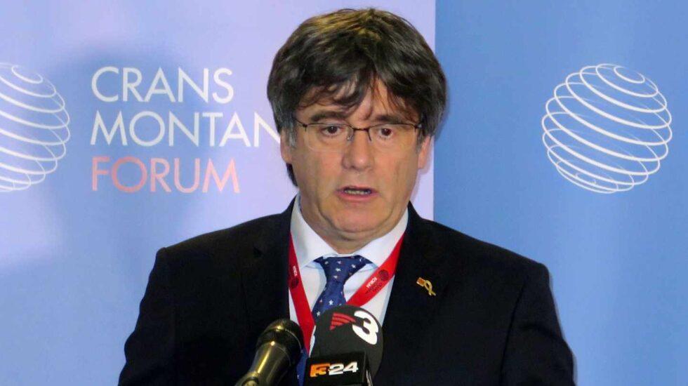 Carles Puigdemont, durante una intervención en Suiza.