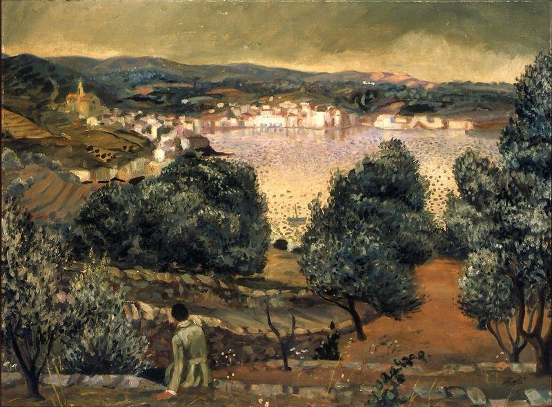 Olivos, paisaje de Cadaquéz, Dalí.