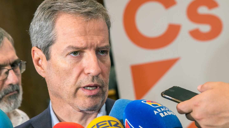 El candidato de Ciudadanos a la presidencia de Aragón, Daniel Pérez.
